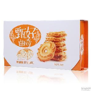 11月产达利园甄好曲奇饼干208g*10盒黄油椰奶巧克力早餐零食包邮
