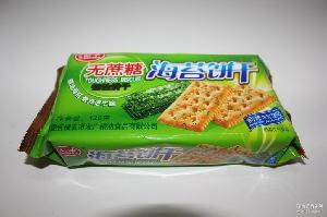 厂家批发 休闲食品学生儿童下午茶点心 无蔗糖海苔饼干120克*48包