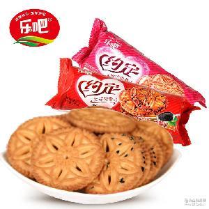 早餐糕点心零食小吃100g/袋 【乐吧饼干】蛋奶酥饼干
