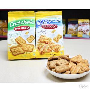 意大利进口百乐可蝴蝶脆硬糖粒饼干高纤维饼干350g休闲零食批发