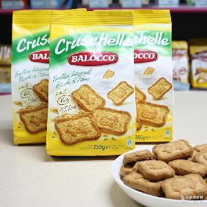 百乐可-高纤维饼干 高纤维饼干350g 早餐全麦饼干 进口休闲零食