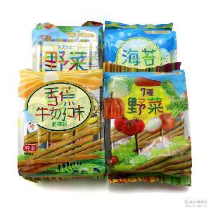 供应【集发地】马来西亚厚毅7种野菜棒饼 192g*12包/箱