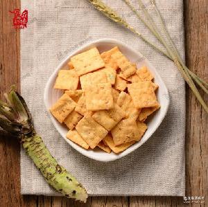 台湾休闲零食-芥末山葵饼干-30公克批发价