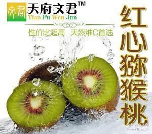蒲江红心猕猴桃奇异果 果园批发新鲜采摘当天发货四川特产