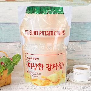 130gx16包/箱 办公休闲零食薯片酸奶味 韩国进口膨化食品