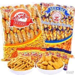 一件代发虾条蟹味粒18g单包经典怀旧膨化休闲零食品批发