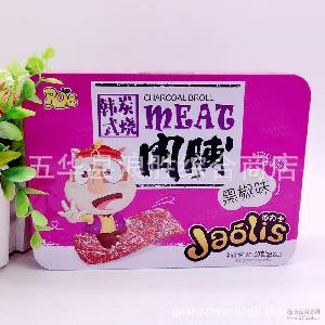 黑椒味 批发休闲食品 RO8角力士韩式炭烧猪肉脯 24盒一箱 150g