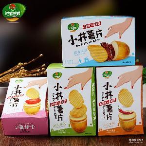小林薯片68g/盒非油炸膨化食品办公室休闲批发小吃零食薯片