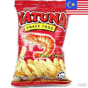 进口膨化食品批发 原装进口马来西亚NATUNA香脆虾条60g*30包