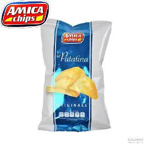 意大利休闲零食艾美佳薯片 原味200g*12袋 进口膨化食品批发