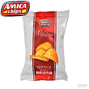 香辣味100g*14袋 进口膨化食品批发 意大利休闲零食艾美佳薯片