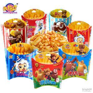 添乐卡通王伊脆卡通薯条薯片膨化食品儿童动漫休闲零食