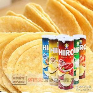 马来西亚进口薯片 批发进口休闲零食一皇香脆薯片160g 膨化食品
