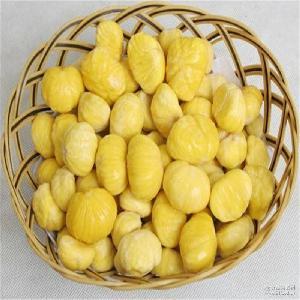 休闲食品 泰山特产板栗仁 栗子 大量批发现剥新鲜泰山板栗仁 栗米