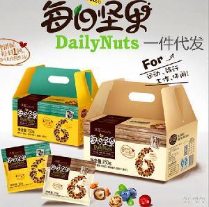 坚果 大礼包 沃隆 多种原味混合礼盒装 支持一件代发 每日坚果