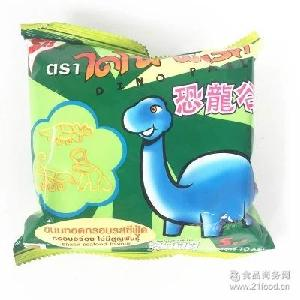 泰国进口零食dinopark恐龙谷膨化九州娱乐官网10g虾味香酥恐龙形状薯片