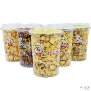 团购批发食品膨化食品休闲零食 郭金山爆米花玉米118g克 桶装焦糖