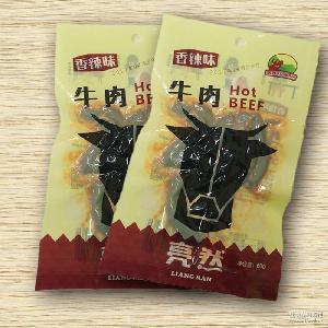 休闲 旅游美食 牛肉干(100g)重庆亮然正宗特产 香辣味  居家