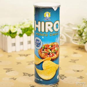 总代进口休闲零食马来西亚HIRO薯片 膨化食品办公室零食小吃批发