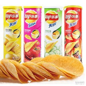 零食乐事薯片休闲零食批发 乐事薯片104g桶装膨化食品