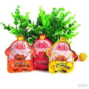 【皓运通】香港众星食品零食126g*24包 烤猪肉片肉条肉脯