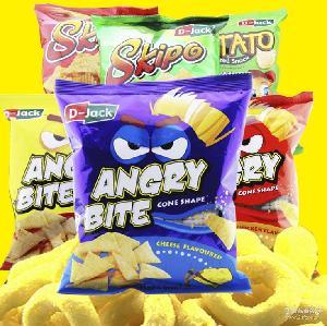 进口零食批发50g 马来西亚清真进口D-Jack怒食鸟脆片休闲膨化食品