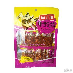 批发尚上坊 牛板筋麻辣味香辣108g四川特产零食牛肉干辣