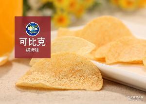 60g*10袋 袋装薯类膨化食品办公室休闲好吃的零食批发 可比克薯片