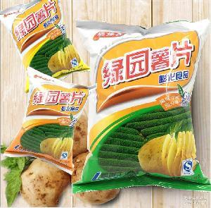 100g*60包膨化休闲食品 薯片超级热卖零食 绿园薯片 脆爆虎