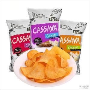 临期特价清仓 原味膨化食品印尼进口薯片批发 克恩兹木薯片150g