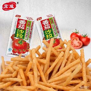 宏途番茄沙拉味薯条薯片袋装特色童年零食膨化食品经典零食店36g