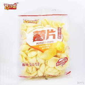 休闲九州娱乐官网番茄薯片150g/袋 巧玲珑 儿童休闲零食 膨化九州娱乐官网零食批发