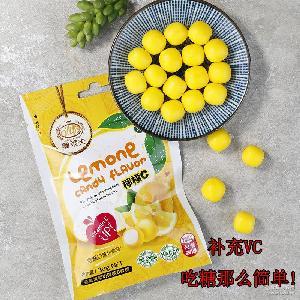台湾原装柠檬C水果软糖 办公休闲零食同香体糖 独立小袋装糖果