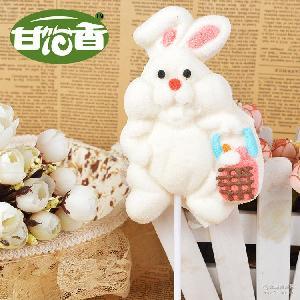 【甘饴香】厂家批发定制卡通棉花糖兔子造型儿童糖果送礼零食品