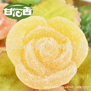 【甘饴香】糖果厂家橡皮糖定制批发散装多味水果花朵qq糖吃的零食