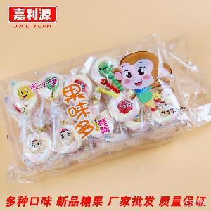 博士糖 七彩珍珠棉花软糖 厂家直销儿童糖果 植物凝胶棒棒糖