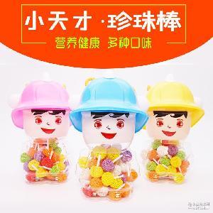 【小天才 珍珠棒】软糖 儿童糖果批发 88g/瓶 棒棒糖