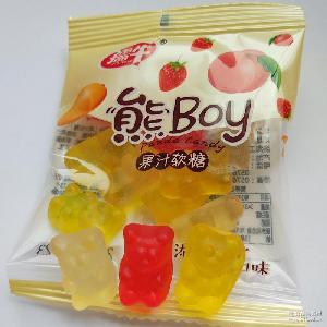 孺牛小熊软糖 儿童零食果汁口味创意儿童qq糖 休闲零食厂家批发