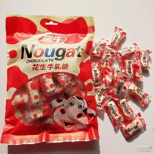 花生牛轧糖 孺牛喜糖专用红色花生牛轧糖 厂家直销红色牛轧糖