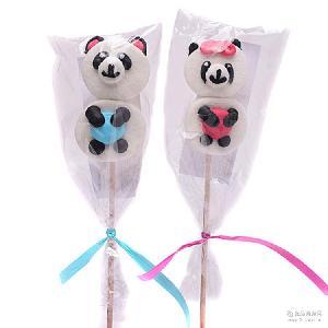 熊猫造型 GERALDO吉豆豆棉花棒棒糖 进口食品 儿童糖果