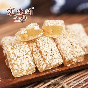糖果QQ糖牛轧糖零食 震远同 浙江湖州特产 300g松子袋装牛皮糖