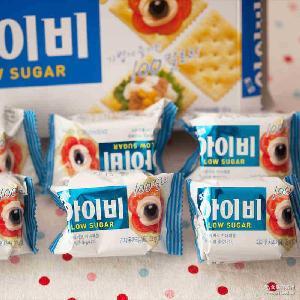 韩国海太IVY薄脆苏打饼干135g*20进口办公室零食点心