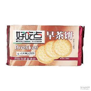 休闲零食早餐饼干 溢园副食品批发好吃点早茶饼 学生的*