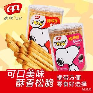 棒棒饼 饼干批发 200g×24/箱 海苔 海盐味道 滨崎食品 休闲零食