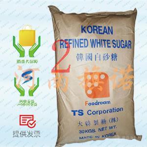 韩国幼砂糖 食品级 TS白砂糖 厂家直销 1*30KG 韩国进口白砂糖