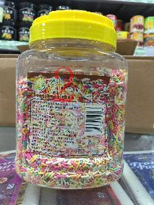 供应彩色朱古力针彩针彩色装饰糖烘焙原料冰淇淋蛋糕装饰糖