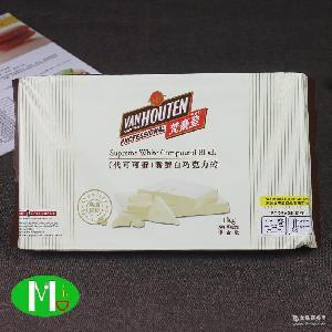 供应梵豪登白巧克力砖/梵豪登白巧克力块(10*1kg)烘焙*