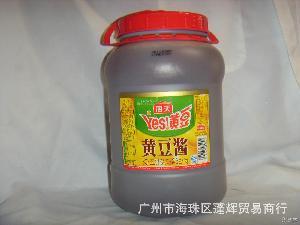 海天产品系列代理 蓬辉批发 海天黄豆酱6kg/1桶