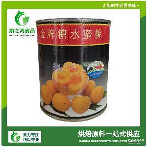 水果罐头批发 南非进口烘焙原料供应*糖水蜜桃 黄桃罐头825g