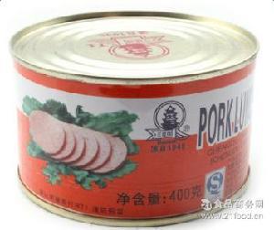成都江楼午餐肉罐头400g四川特产户外火锅午餐肉罐头食品批发